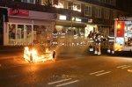 Buitenbrand aan de Huizerweg in Bussum